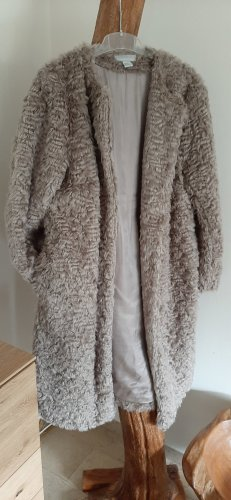 H&M Short Coat grey-dusky pink