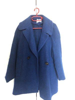 Mango Wool Coat blue-dark blue