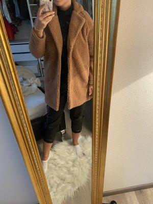 Only Płaszcz oversize jasnobrązowy-brązowy