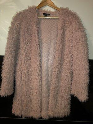 New Look Cappotto in eco pelliccia rosa chiaro