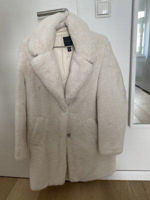 New Look Cappotto in eco pelliccia bianco Tessuto misto