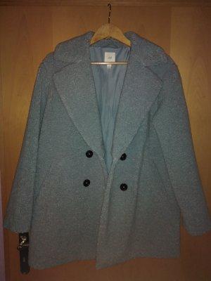 H&M L.O.G.G. Giacca in eco pelliccia azzurro Poliestere