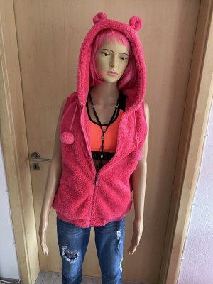 Smanicato con cappuccio rosa