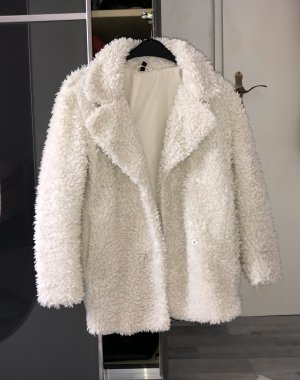 H&M Cappotto in pile bianco sporco-bianco