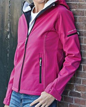 Tee Jays Fashion 3-Lagen Softshell Kapuzenjacke, Größe L (40-42)