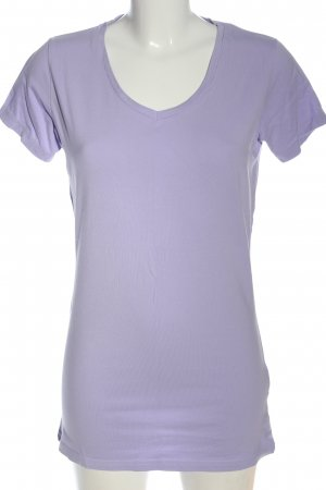 Tee Jays Camisa con cuello V lila look casual