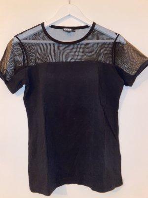 teilweise transparentes Tshirt DKNY