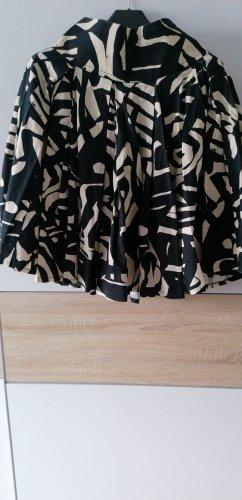 H&M Jupe corolle noir-blanc cassé