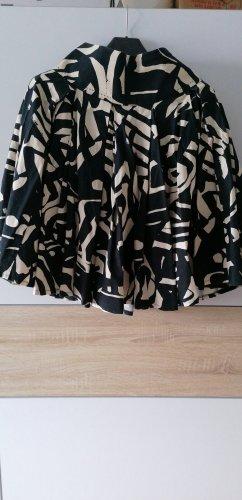 H&M Falda de lino negro-blanco puro