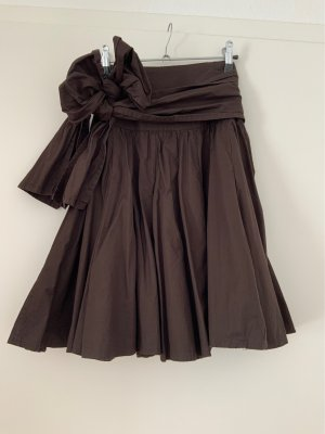 Amisu Circle Skirt dark brown cotton