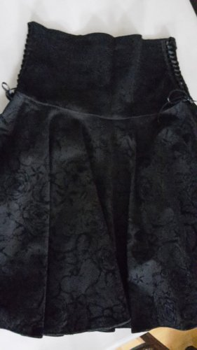 Jupe corolle noir coton