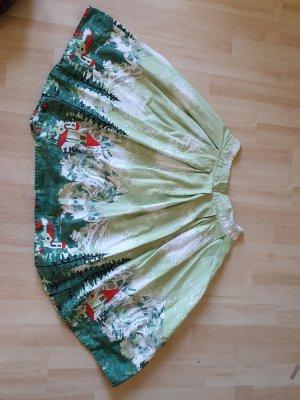 Spódnica z koła zielony