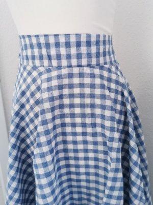 Circle Skirt white-blue
