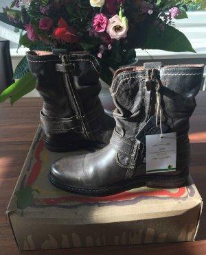 Telyoh Stiefeletten grau braun grün Gr. 37 NEU und OVP Boots