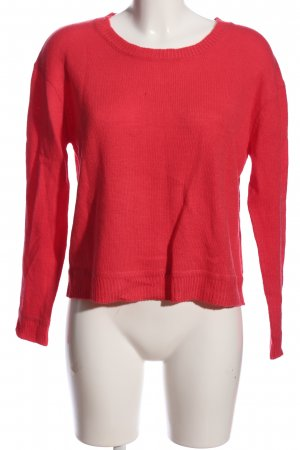 Temt Strickpullover rot Casual-Look