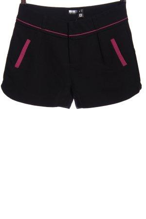 ten plus one Hot Pants schwarz-pink Casual-Look