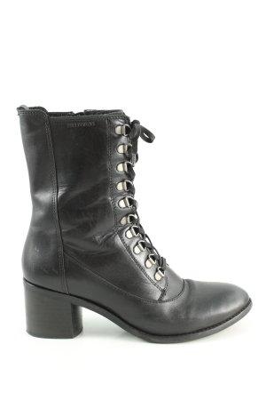 TEN POINTS Reißverschluss-Stiefeletten schwarz Motivdruck Casual-Look