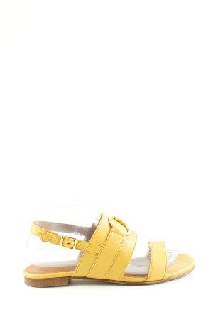 TEN POINTS Sandalias de tiras amarillo pálido look casual