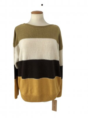 Sweter z dzianiny Wielokolorowy