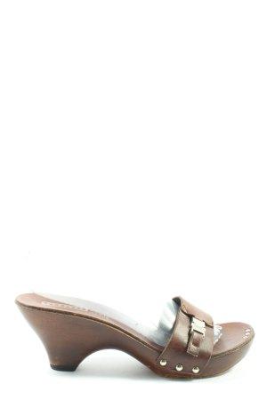 Tendenza Sandalo con tacco marrone elegante
