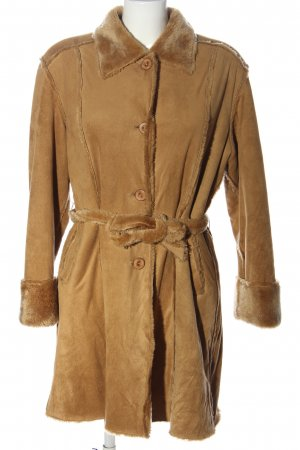 Tengxu Fake Fur Jacket brown casual look