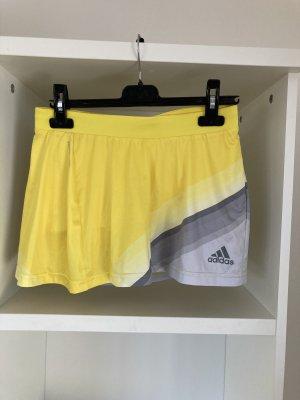 Adidas Falda pantalón amarillo-gris