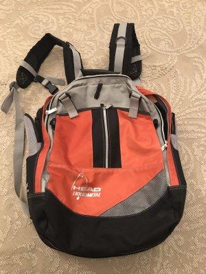 Head Plecak srebrny-pomarańczowy neonowy
