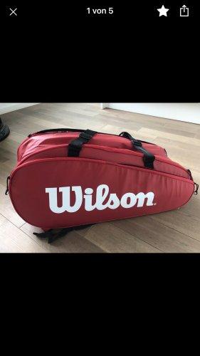 Wilson Bolsa de gimnasio blanco-rojo