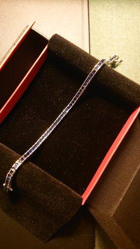 Zilveren armband blauw Metaal