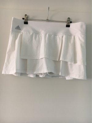 Adidas Jupe superposée blanc-argenté polyester