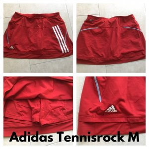 Adidas Gonna culotte bianco-rosso Lycra