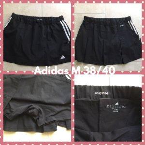 Adidas Gonna culotte nero-bianco Lycra