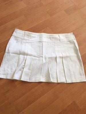 Benetton Plisowana spódnica biały