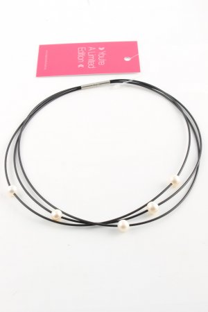 Pearl Necklace black-natural white casual look