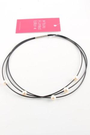 Collana di perle nero-bianco sporco stile casual