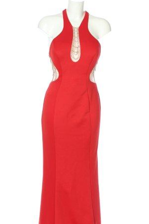 Terani Couture Abendkleid rot-goldfarben Elegant