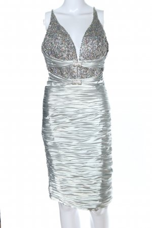 Terani Couture Bleistiftkleid silberfarben Elegant