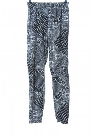 Terranova Baggy Pants abstraktes Muster Casual-Look