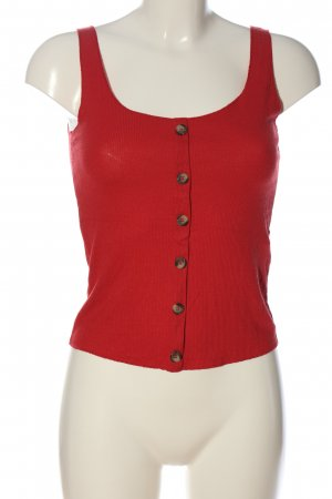 Terranova Top corto rosso stile casual