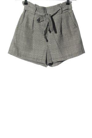 Terranova High-Waist-Shorts hellgrau Allover-Druck Business-Look