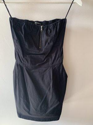 Terranova Kleid schulterfrei schwarz mit Reißverschluss