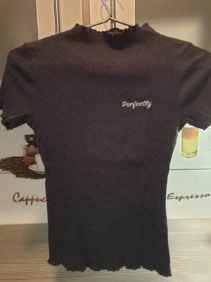 Terranova Kragen T-Shirt Damen Schwarz Größe 38