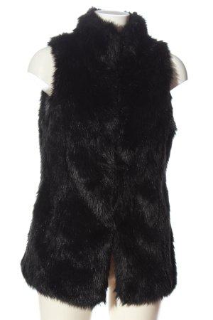 Terranova Chaleco de piel sintética negro look casual