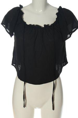 Terranova Camicetta a maniche corte nero stile casual