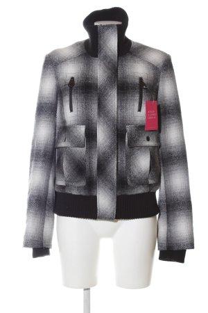 Terranova Kurzjacke schwarz-weiß Farbverlauf Casual-Look