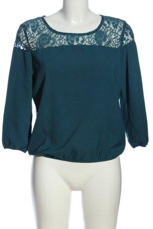Terranova Langarm-Bluse blau Elegant