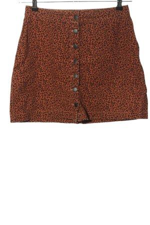 Terranova Mini-jupe orange clair-noir imprimé allover style décontracté