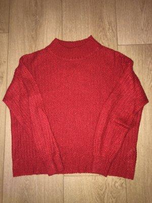 Terranova Pullover all'uncinetto rosso chiaro-rosso