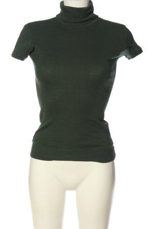 Terranova Maglia a collo alto verde stile casual