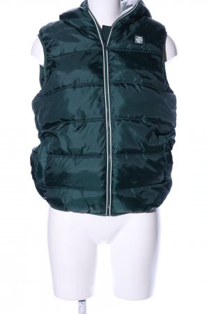 Terranova Quilted Gilet green quilting pattern casual look